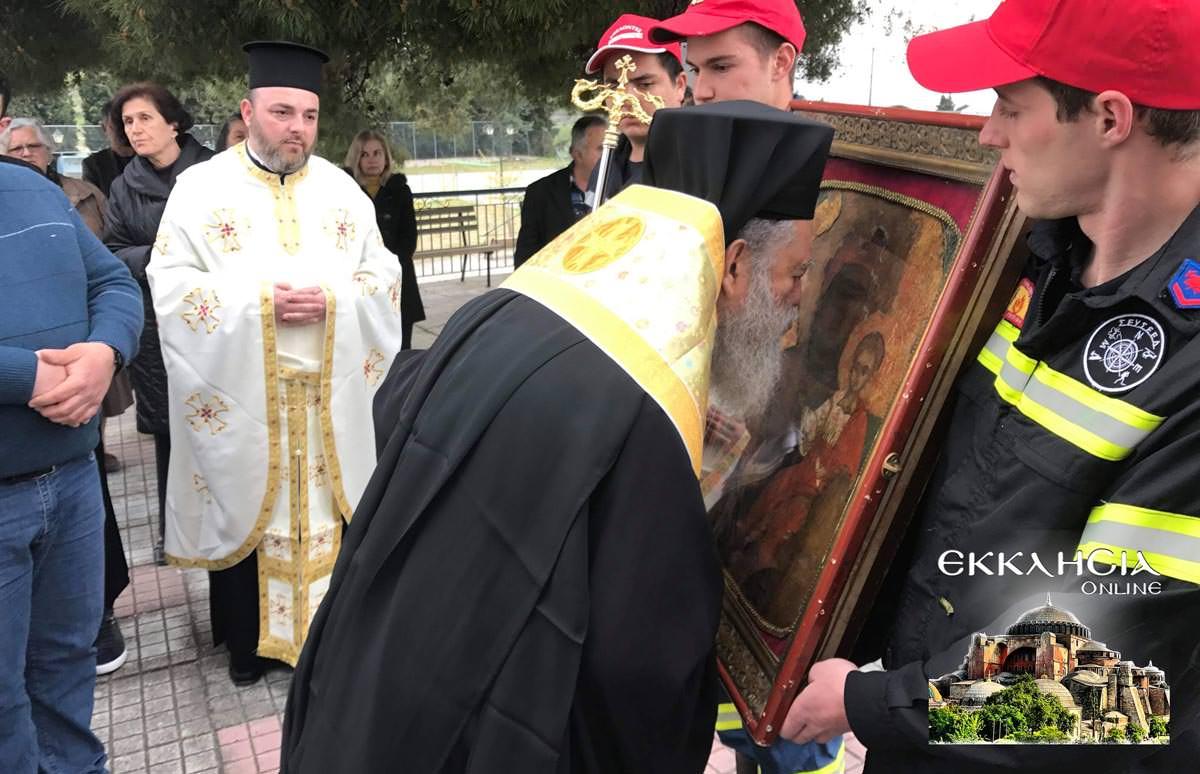 Υποδοχή Θαυματουργή Ιερά Εικόνα Παναγίας Ντινιούς