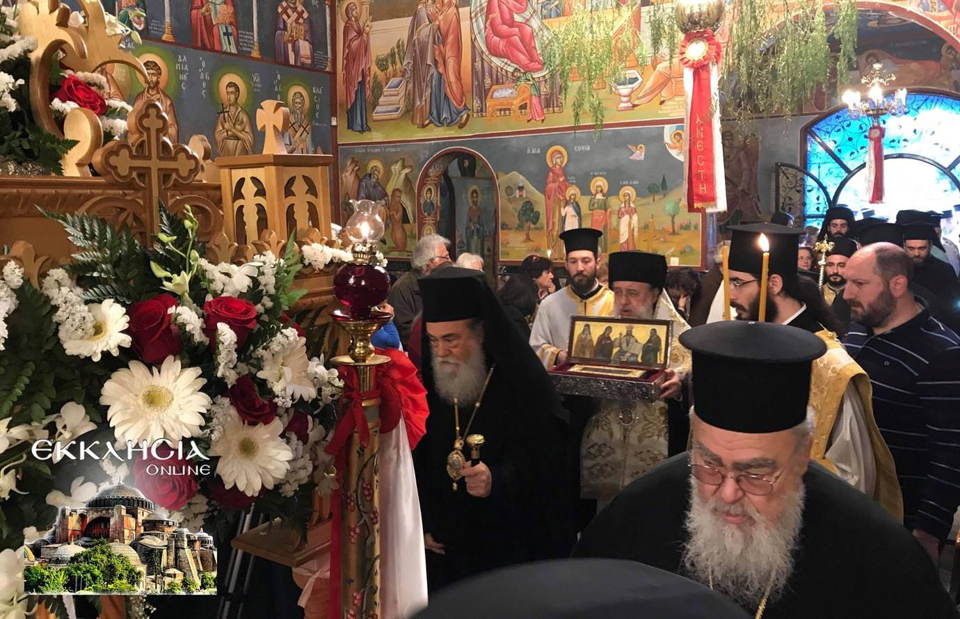 αγία ματρώνα ιερά λείψανα ιερός ναός ερυθραία