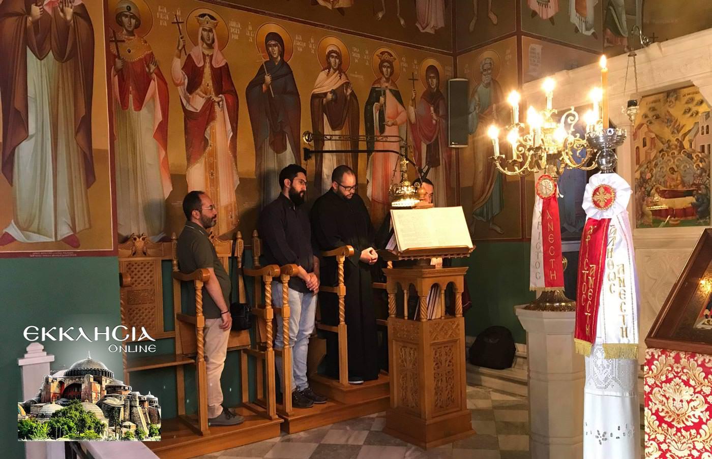 ιερός ναός Κοιμήσεως της Θεοτόκου Παλλήνη 2019 εικόνα της Παναγίας της Διασωζούσης