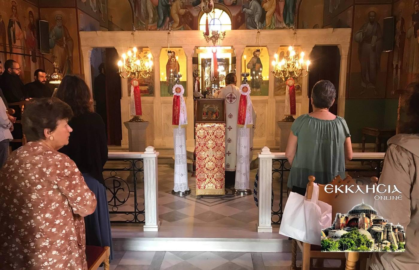ιερός ναός Κοιμήσεως της Θεοτόκου Παλλήνη 2019 εικόνα της Παναγίας της Διασώζουσας