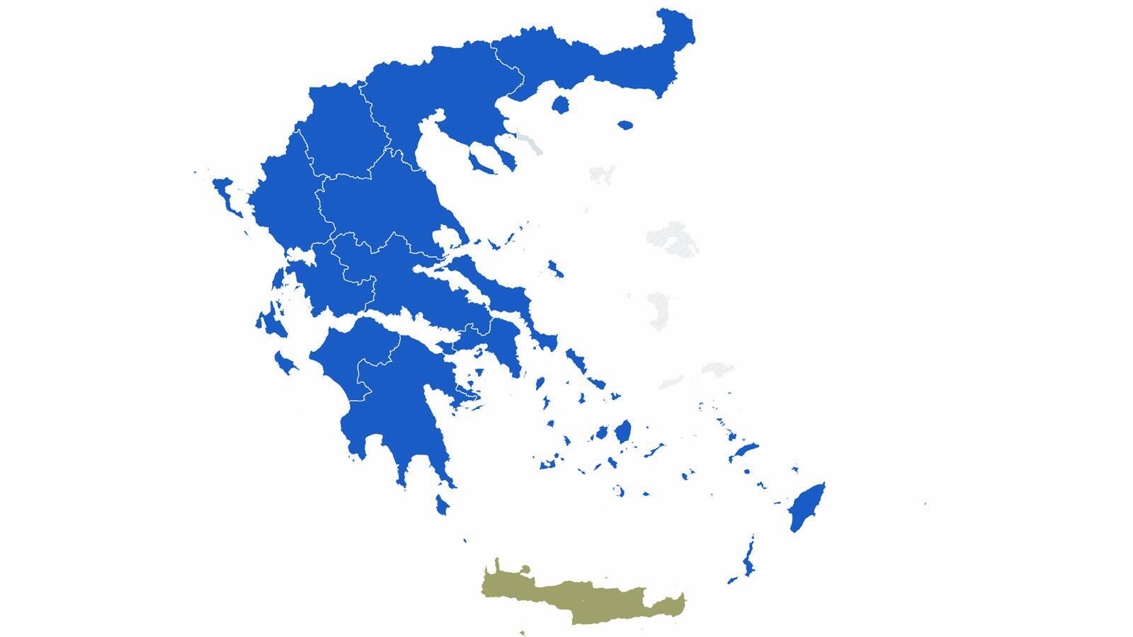 εκλογικός χάρτης περιφερείες 2019