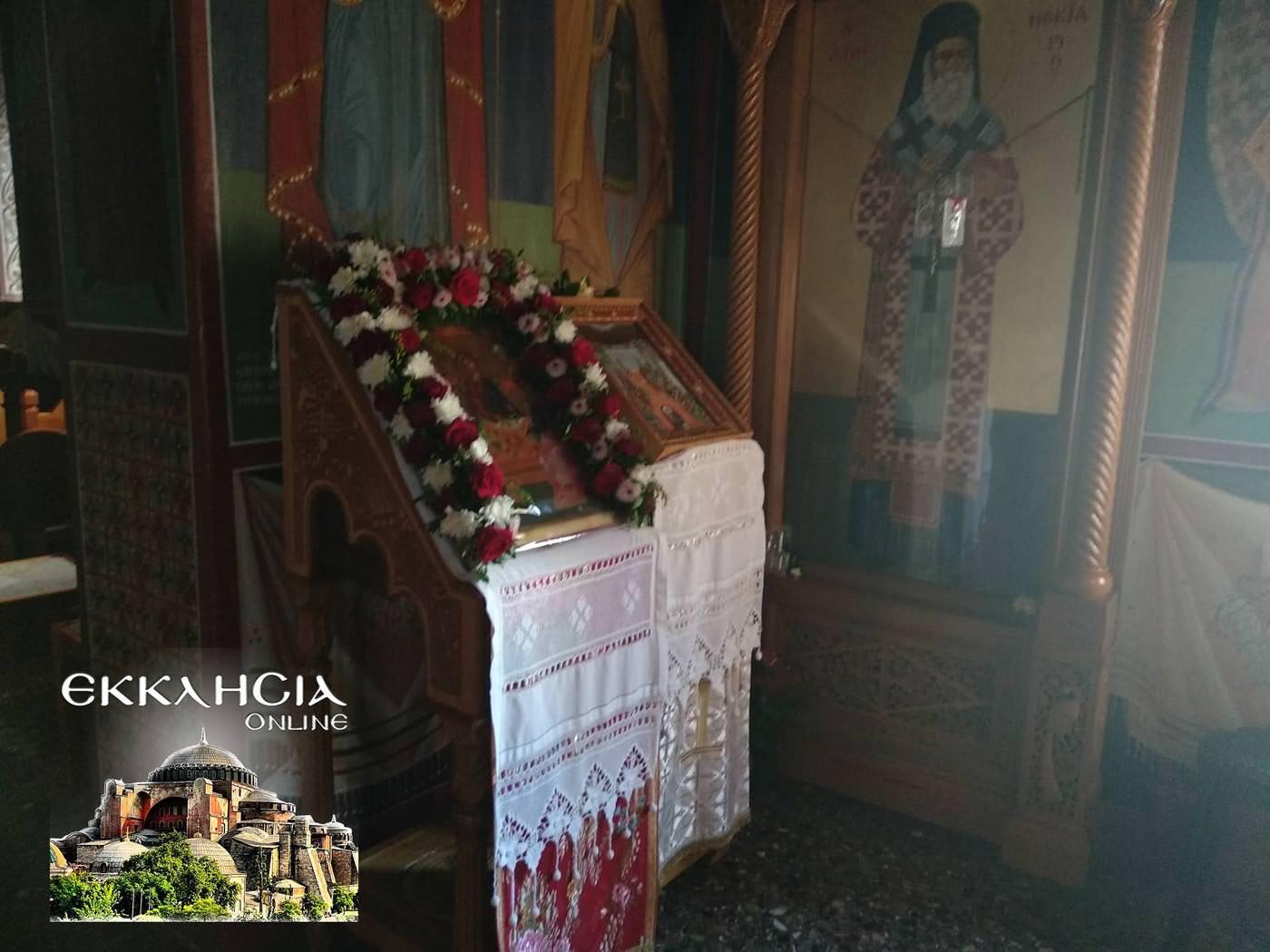Ιερά Μονή Αγίας Τριάδος Γλυφάδα Αγίου Πνεύματος 2019 Παναγία