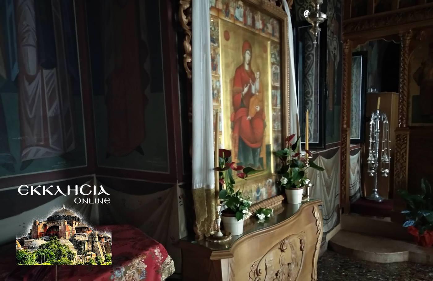 Ιερά Μονή Αγίας Τριάδος Γλυφάδα εικόνα παναγίας