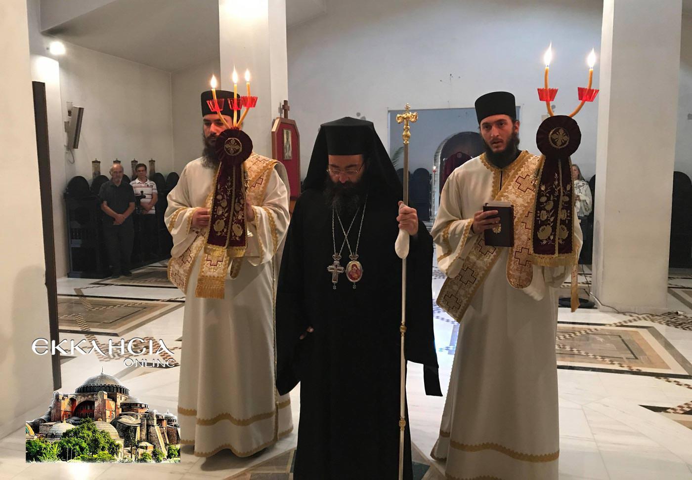 Ιερά Μονή Αγίου Νεκταρίου και Φανουρίου 2019 Θεία Λειτουργία