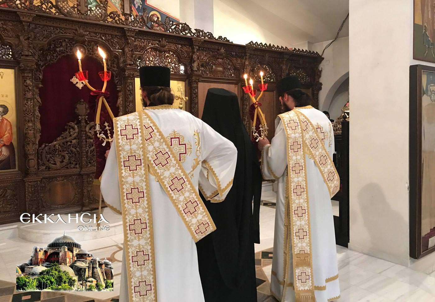 Ιερά Μονή Αγίου Νεκταρίου και Φανουρίου 2019 Λειτουργία