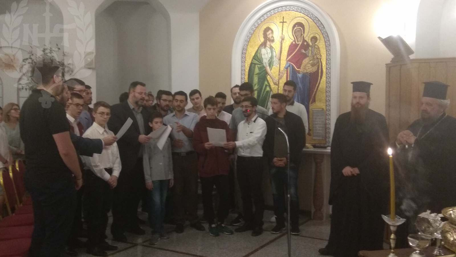 Μητρόπολη Νεαπόλεως Αγιασμός στη Σχολή Βυζαντινής Μουσικής από τον Βαρνάβα