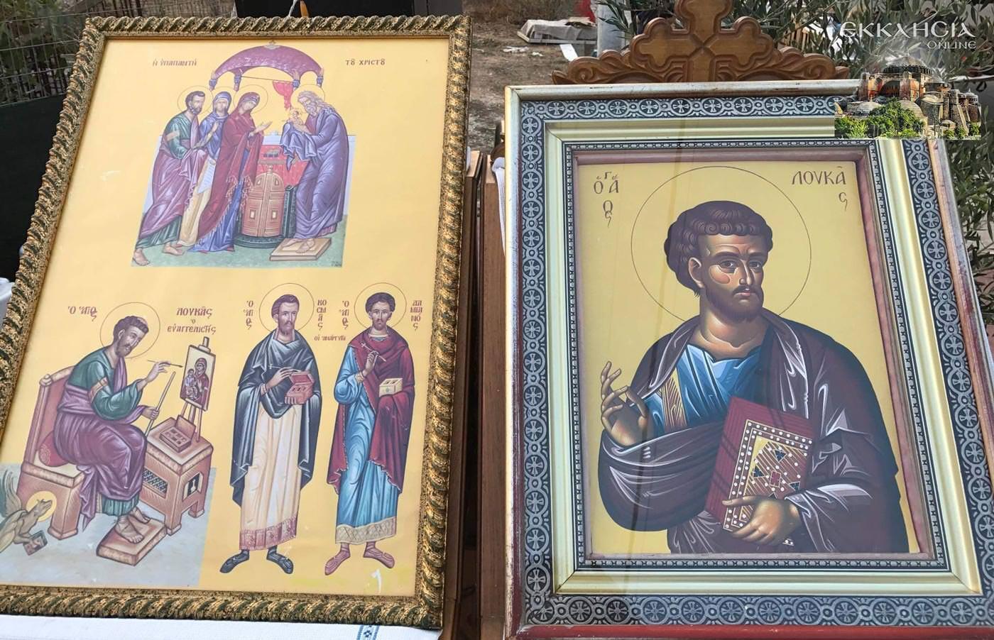Άγιος Λουκάς Ευαγγελιστής εικόνα