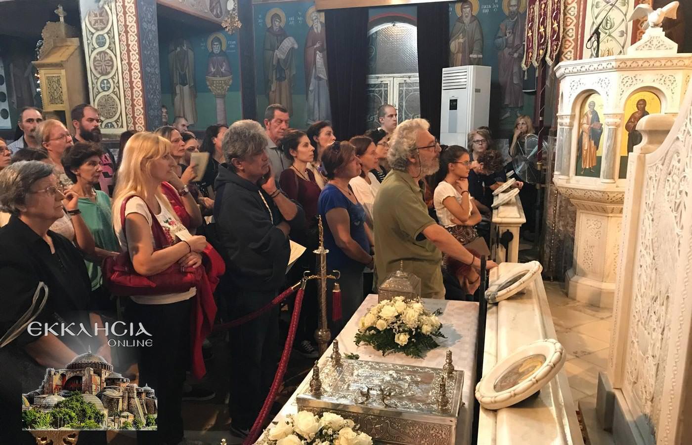 Ιερά Λείψανα Αγίας Παρασκευής Ιερός Ναός Μεταμορφώσεως Σωτήρος Βύρωνας
