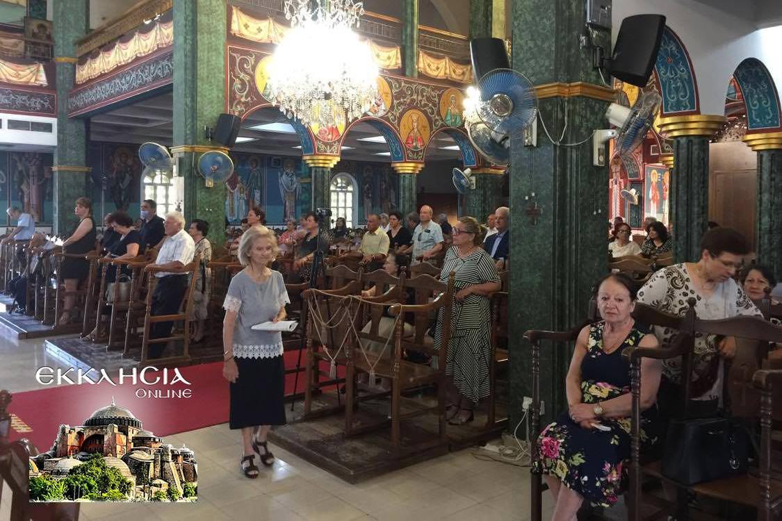 Ναός Αποστόλου Παύλου Λευκωσία Εσπερινός Αποστόλων Πέτρου και Παύλου 2020
