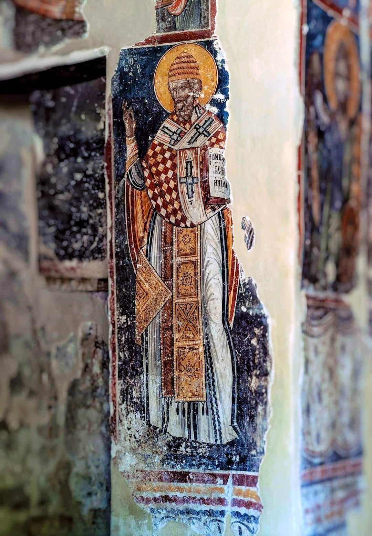 Άγιος Σπυρίδωνας τοιχογραφία Αλβανία