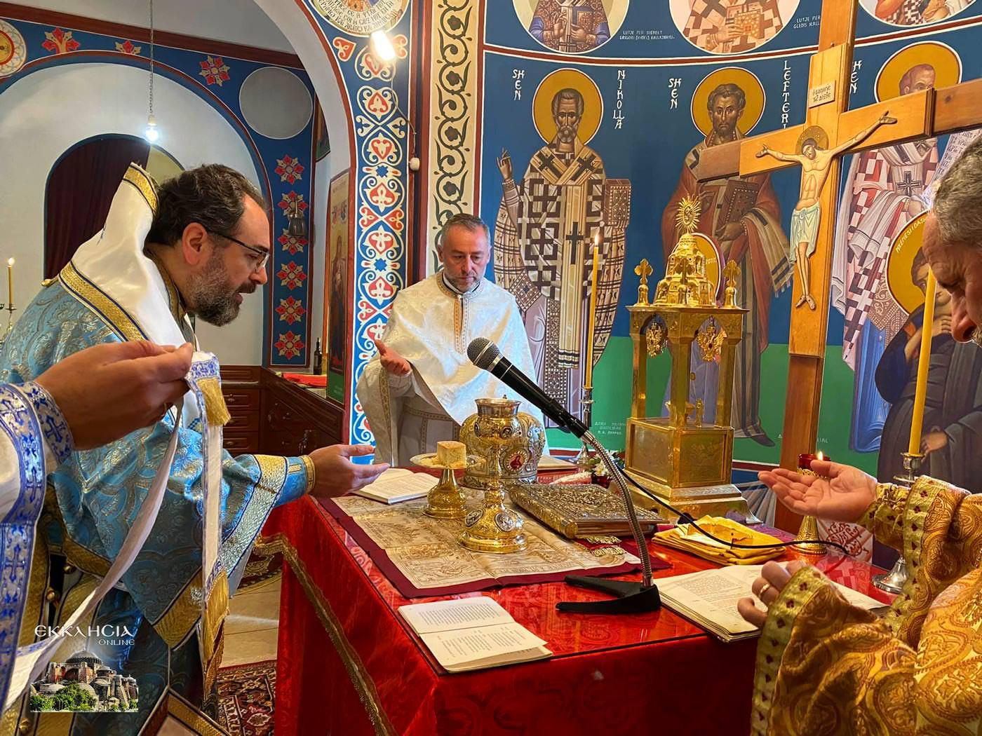 Εκκλησία Αλβανίας ονομαστήρια του Μητροπολίτη Ελμπασάν Αντωνίου