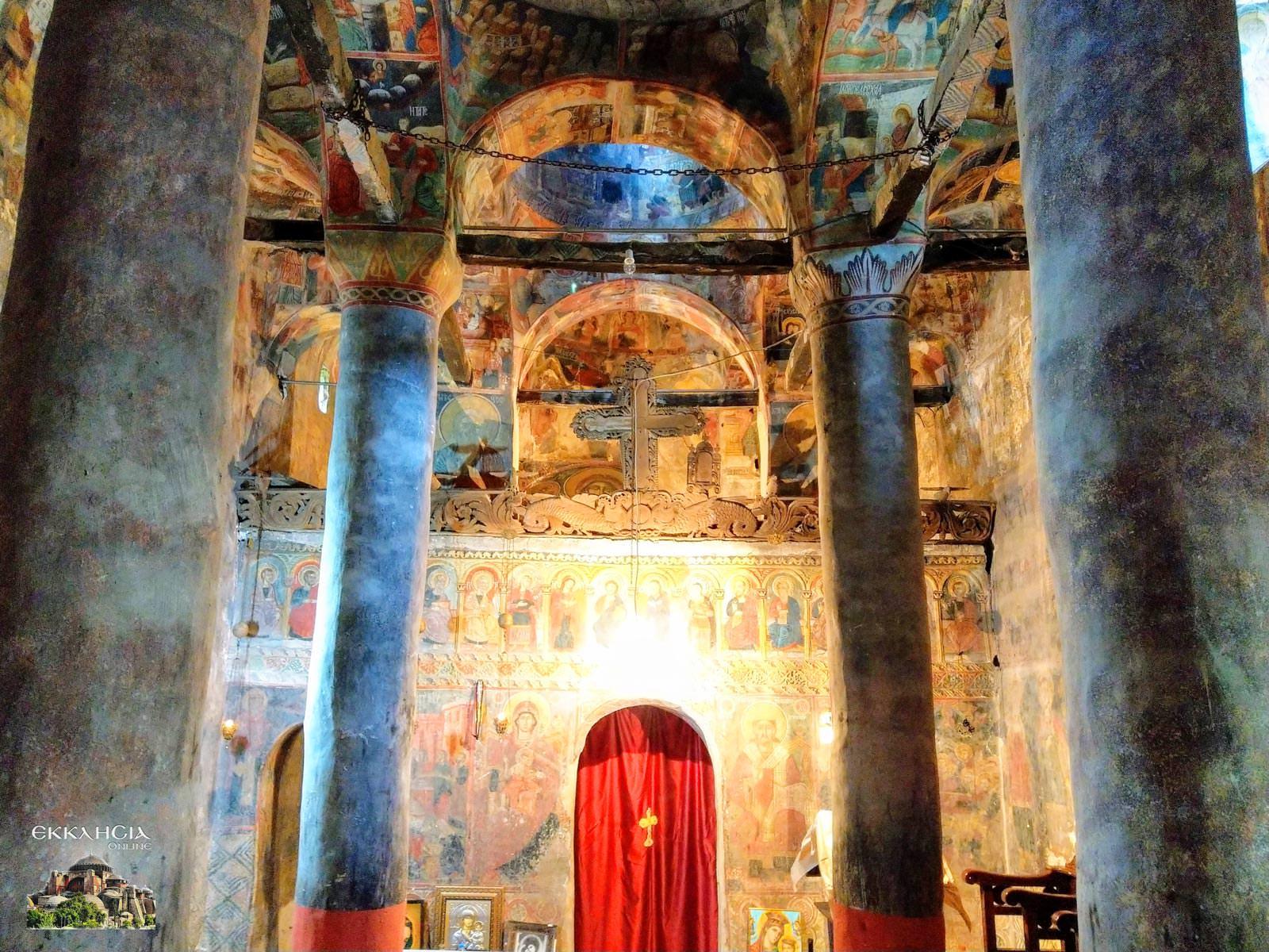 Ιερά Μονή Σιστρουνίου Τοιχογραφίες