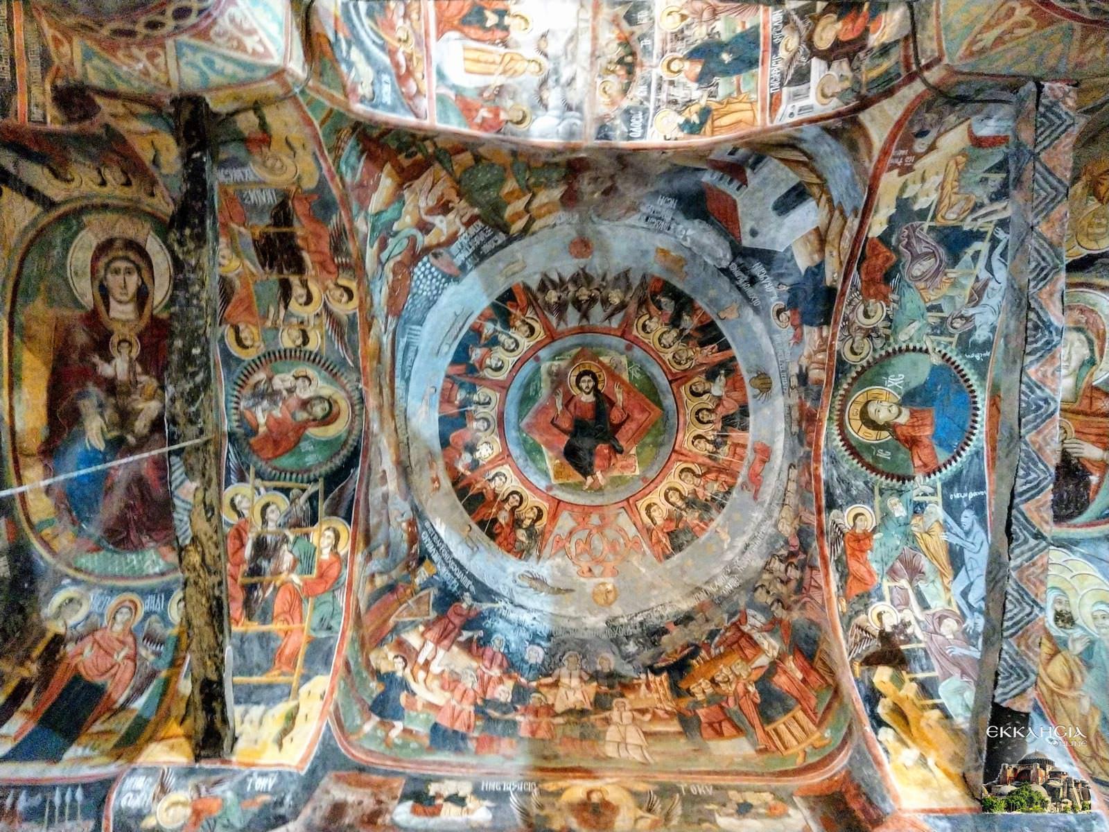 Ιερά Μονή Θεοτόκου Σιστρουνίου Τοιχογραφίες