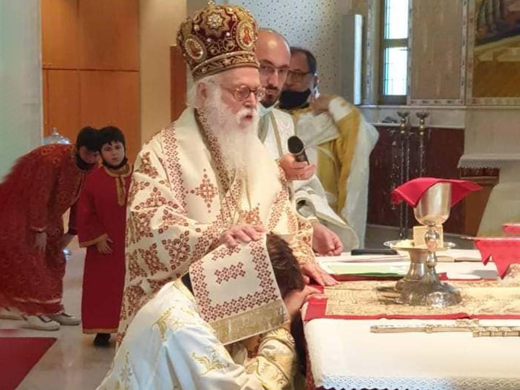 Αρχιεπίσκοπος Αλβανίας Αναστάσιος χειροτονία