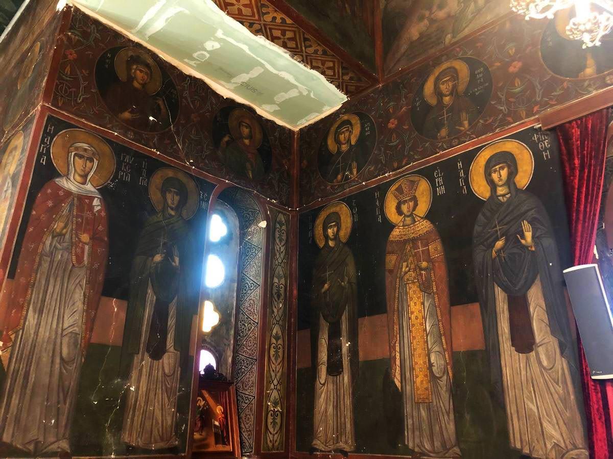 Εκκλησία Αγίου Χαραλάμπους Αγιογραφίες Κώντογλου