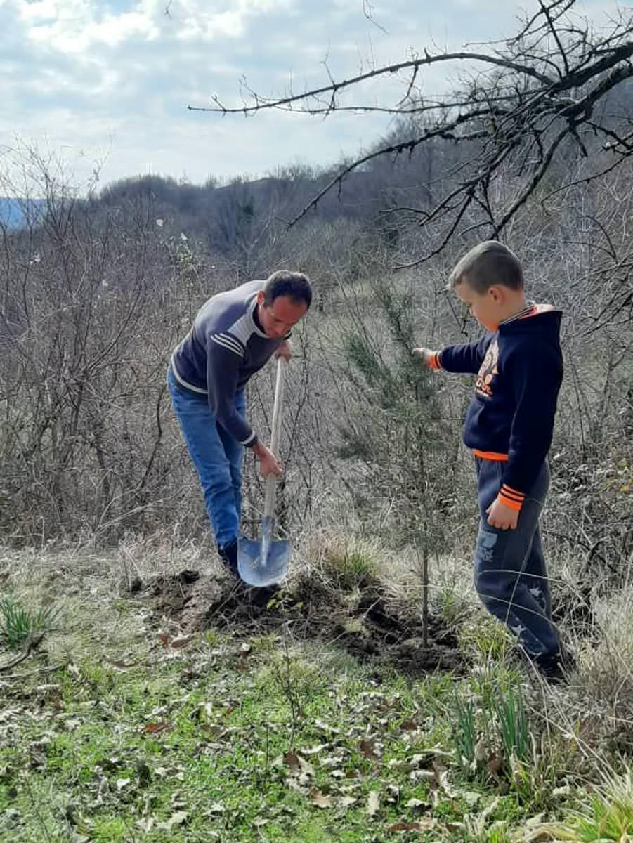 Παιδιά και νέοι φύτεψαν δένδρα σε δέκα εκκλησίες