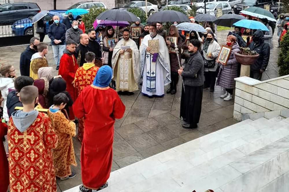 λιτανείες εορτή Κυριακή της Ορθοδοξίας Εκκλησία Αλβανία 2021