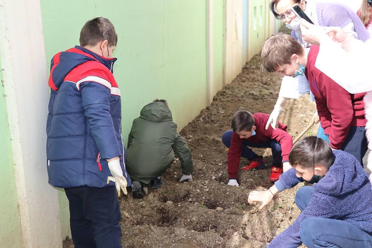 Μαθητές Μητρόπολης Αργυροκάστρου φύτεψαν λαχανικά