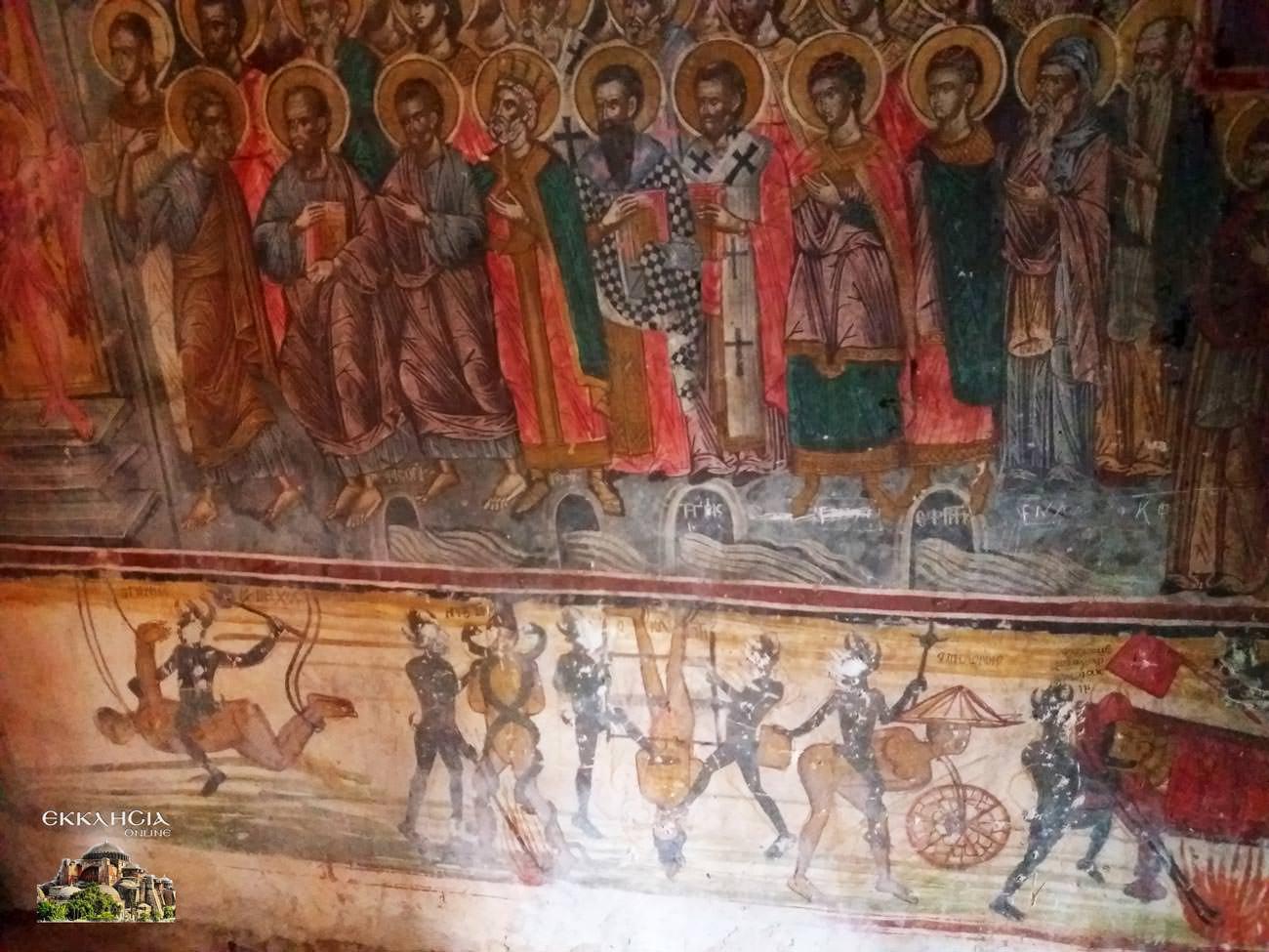 Μονή Σέλτσου Τοιχογραφία
