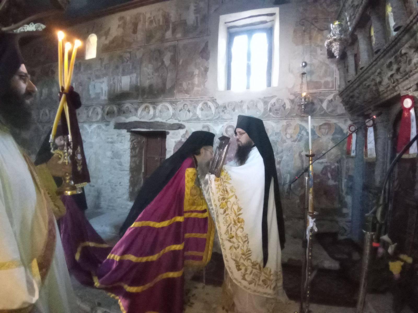 Αρχιερατική Θεία Λειτουργία Αγίου Μεγαλομάρτυρος Χριστοφόρου στο Μοναστήρι Αγίου Ιωάννου στο Λιβάδι της Καρυάς