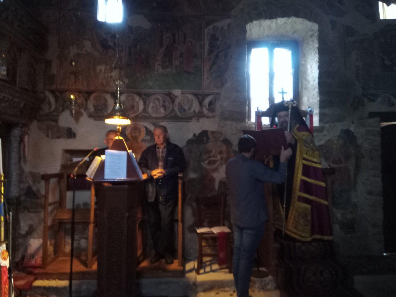 Αρχιερατική Θεία Λειτουργία Αγίου Μεγαλομάρτυρος Χριστοφόρου στο Μοναστήρι Αγίου Ιωάννου στο Λιβάδι Καρυάς
