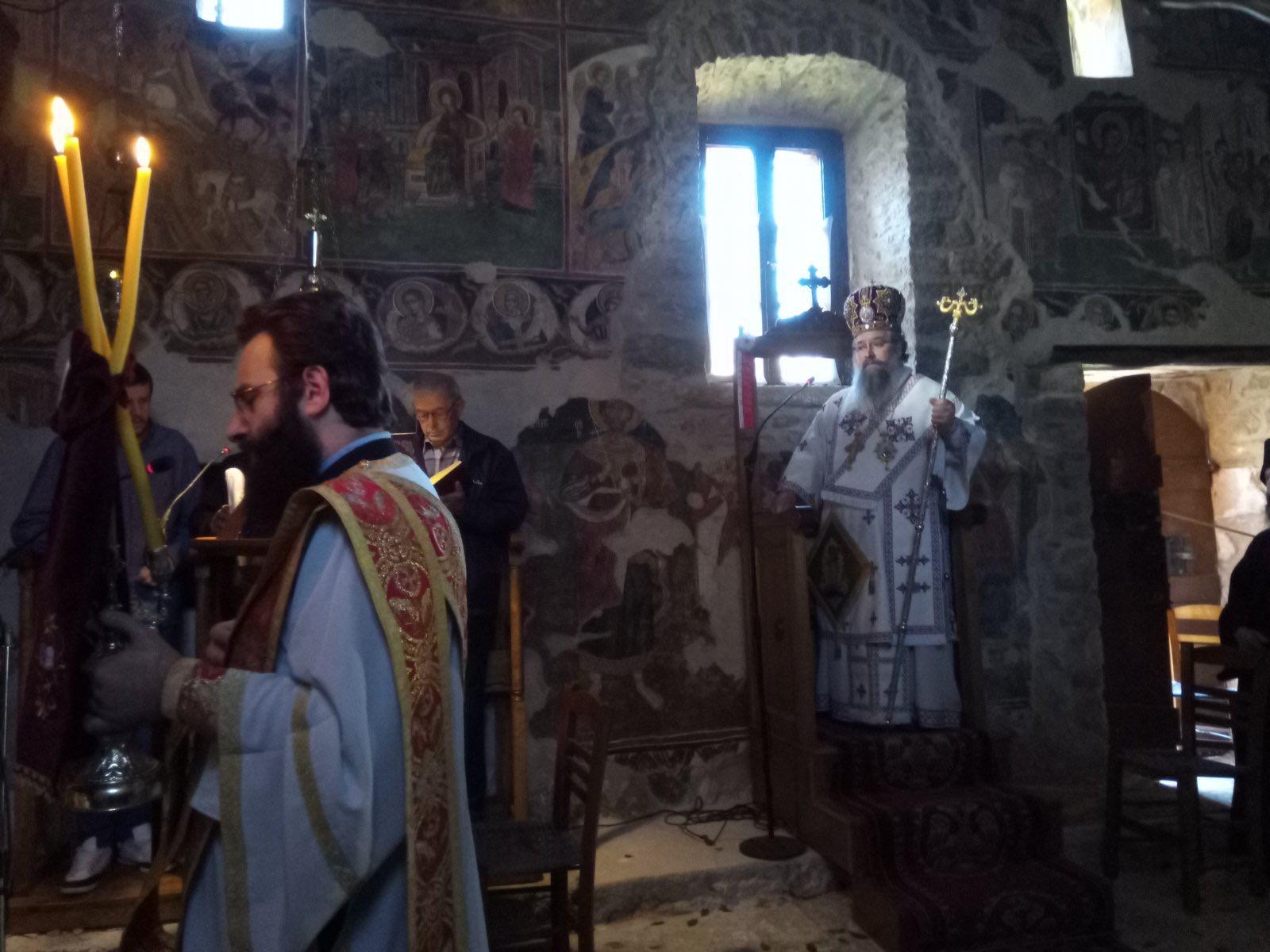 Θεία Λειτουργία Αγίου Μεγαλομάρτυρος Χριστοφόρου στο Μοναστήρι Αγίου Ιωάννου στο Λιβάδι της Καρυάς