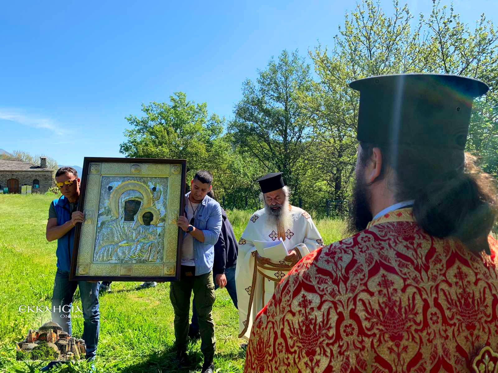 Λιτανεία θαυματουργής εικόνας της Παναγίας στα Ελληνοαλβανικά σύνορα 2021