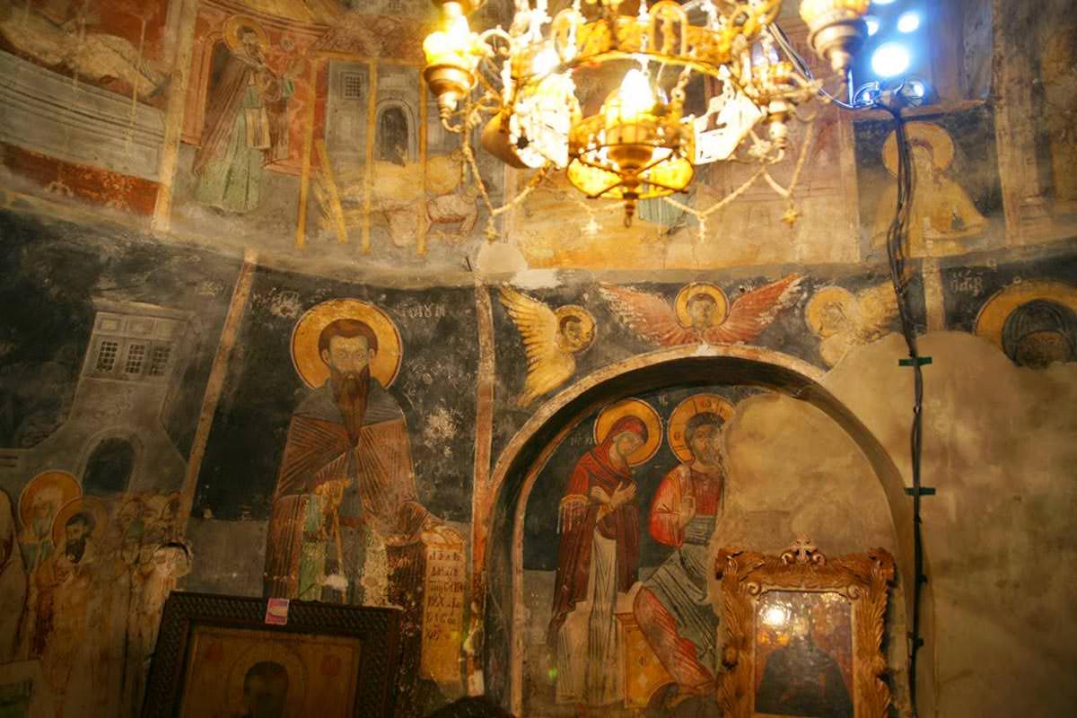 Μοναστήρι Οσίου Ναούμ Σκόπια τοιχογραφίες