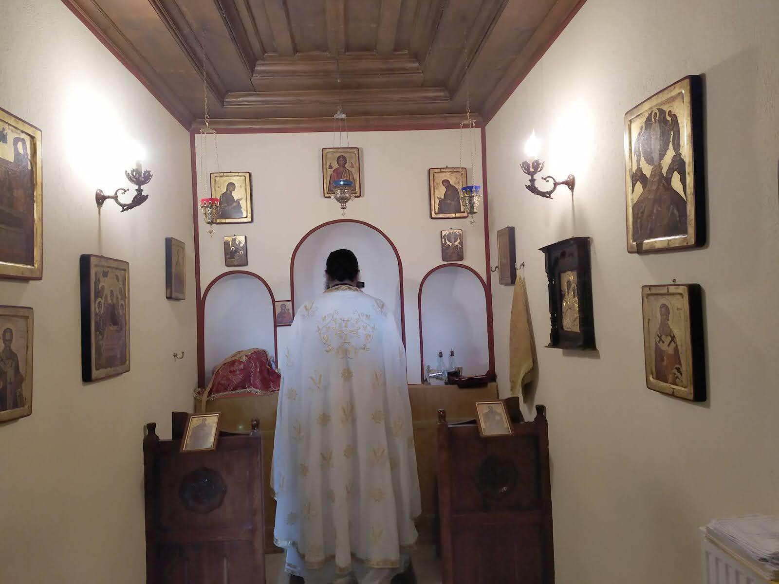 Γιορτή Παρεκκλήσι της Αγίας Τριάδος της Μονής Γηρομερίου Θεσπρωτίας