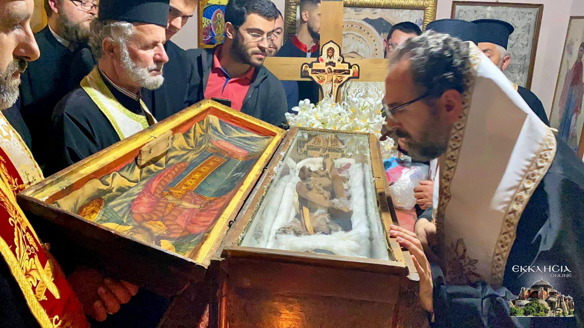 θαυματουργά λείψανα του αγίου Ιωάννου του Βλαδιμήρου Ελμπασάν 2021