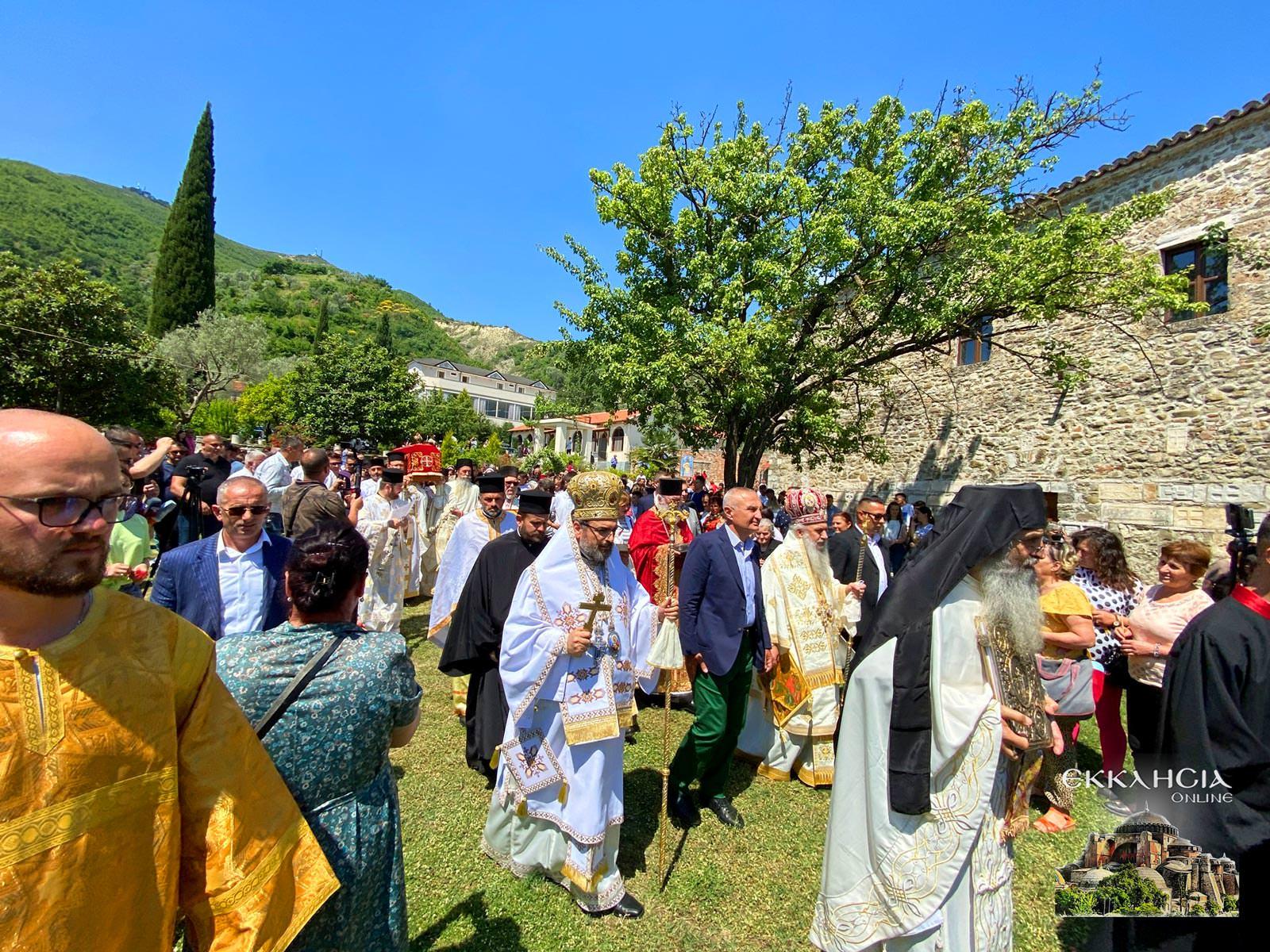 Λιτανεία του Ιερού Λειψάνου του Οσίου Ιωάννου του Βλαδιμήρου Αλβανία Ελμπασάν 2021