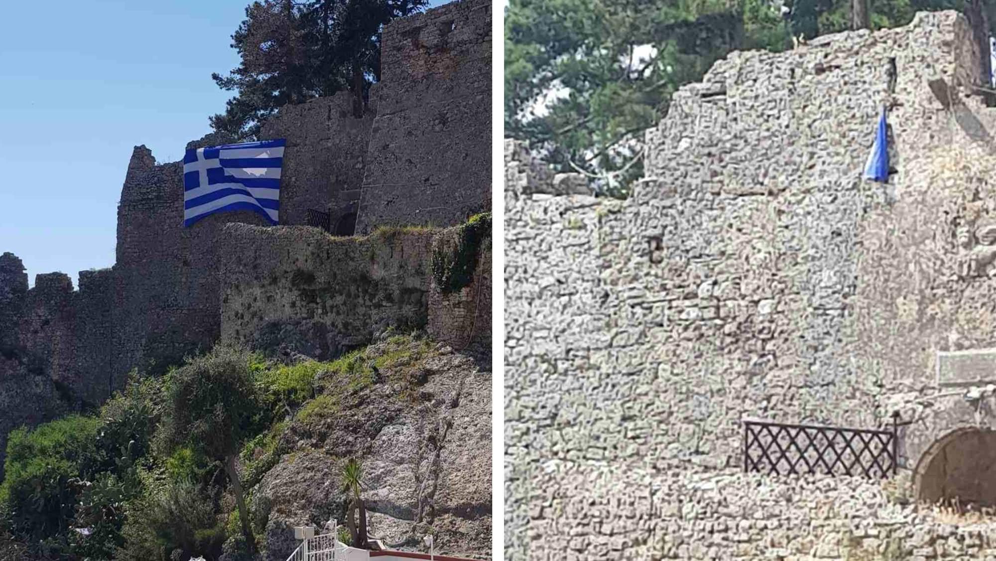 Σχισμένη σημαία ενετικό κάστρο πάργα