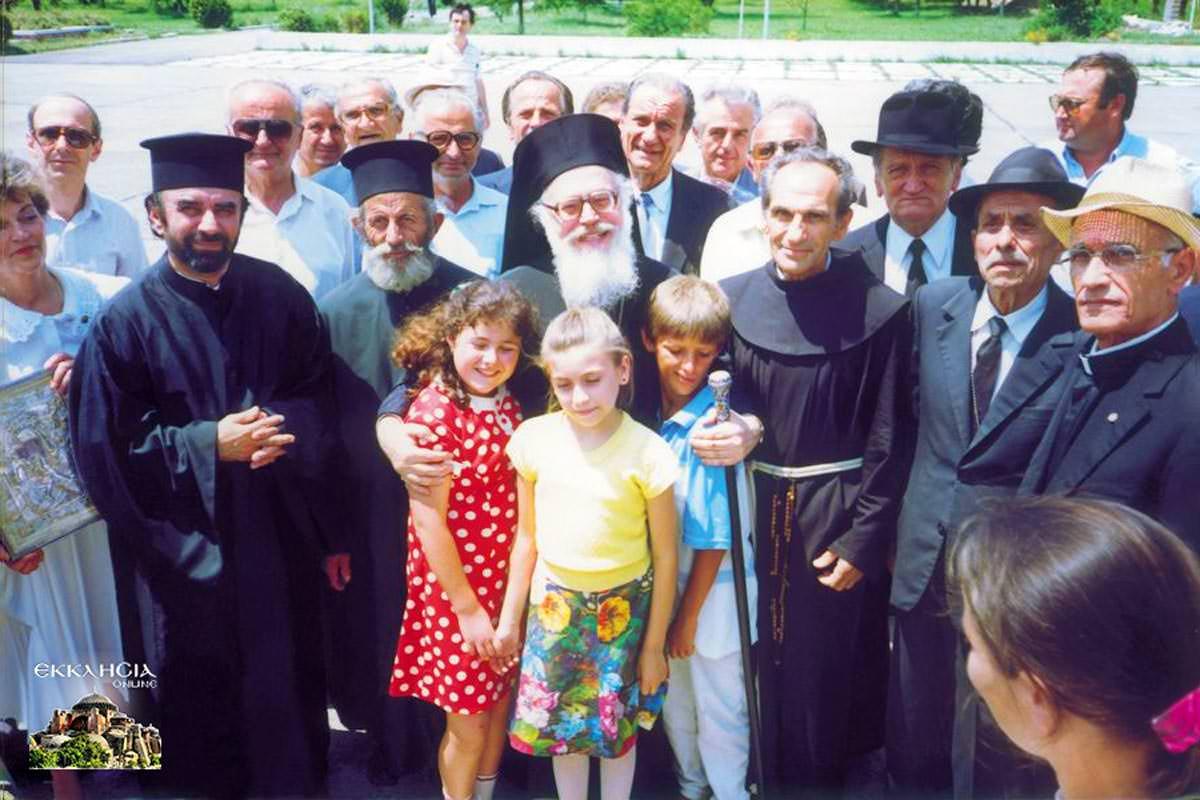 Αρχιεπίσκοπος Αλβανίας Αναστάσιος αεροδρόμιο 1991