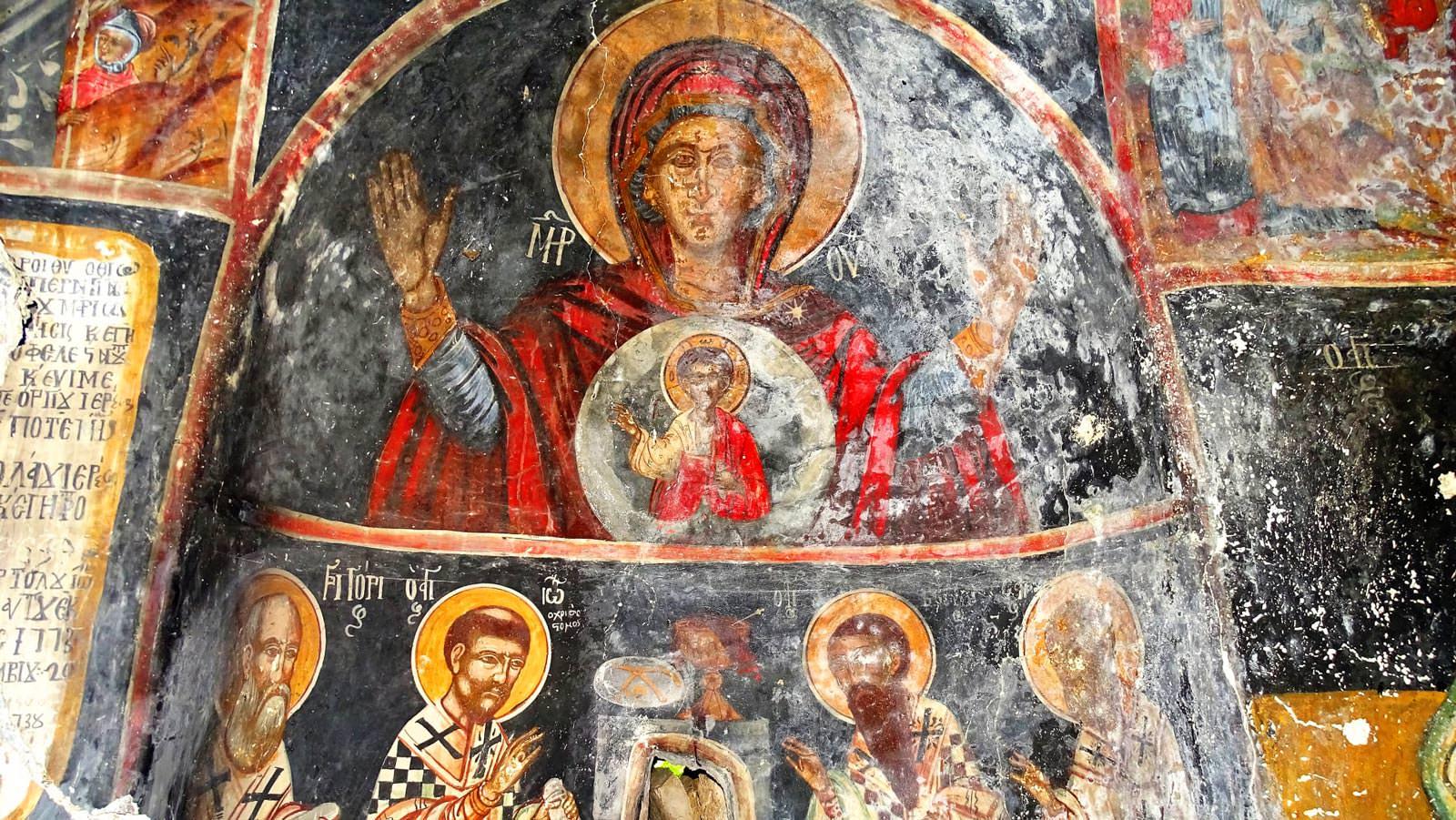 ναός της Παναγίας τοιχογραφία