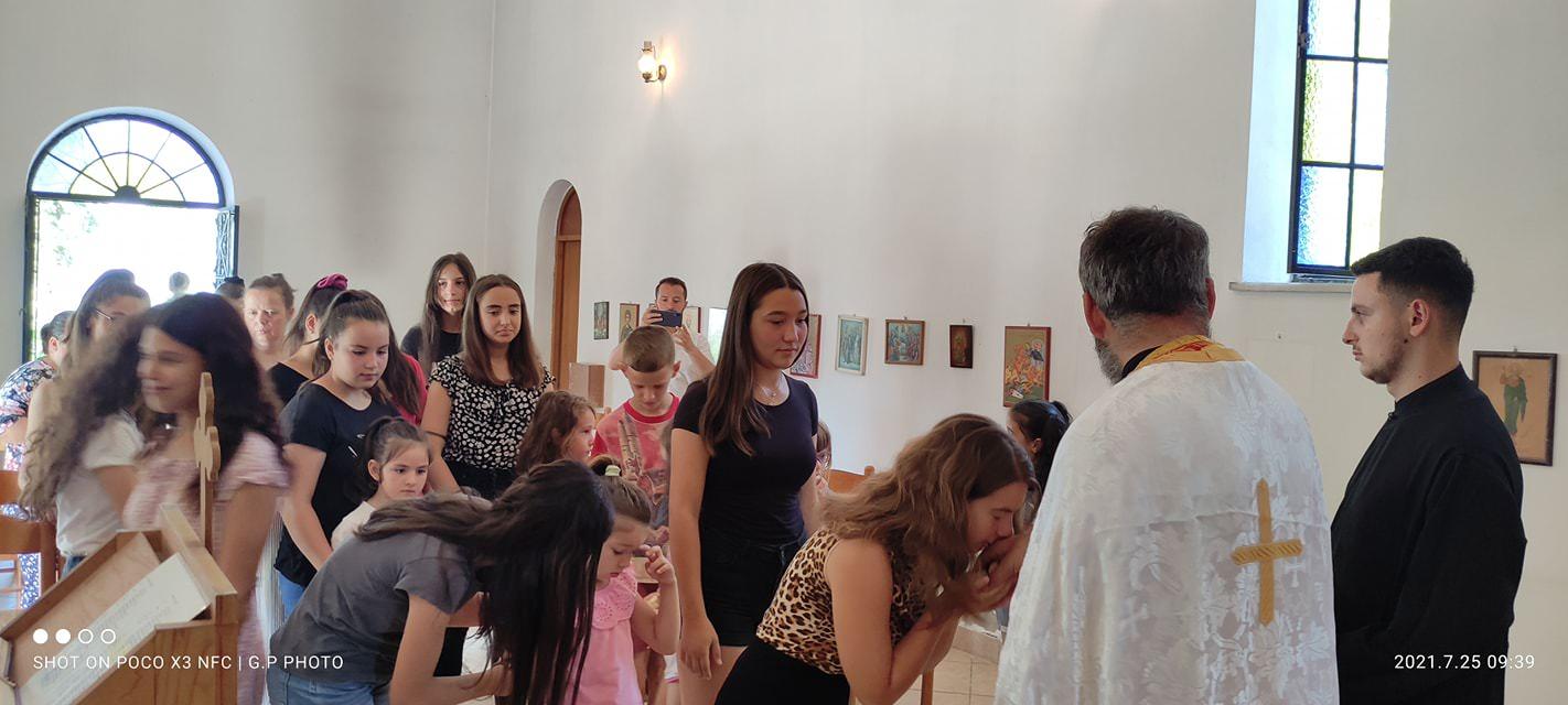 Κοίμηση της Αγίας Άννης στην Εκκλησία της Αλβανίας