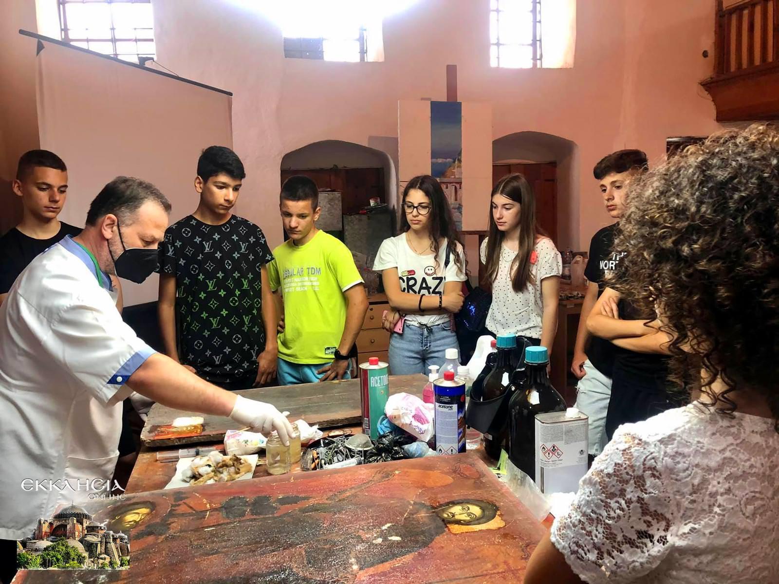 Συντήρηση εικόνων και αγιογραφιών στην Αλβανία