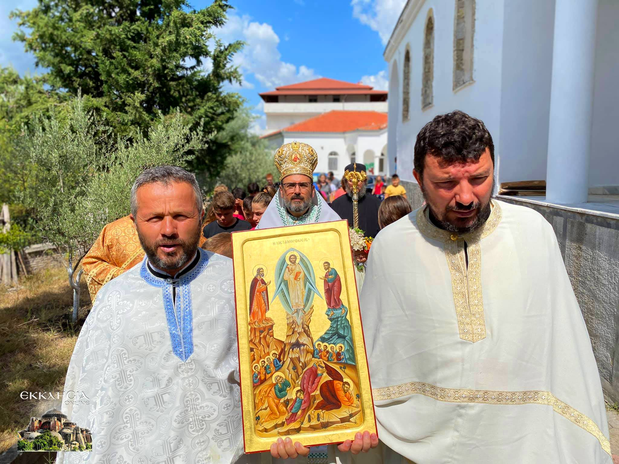 Λαμπρός εορτασμός της Μεταμόρφωσης του Σωτήρος στην Εκκλησία της Αλβανίας Λιτανεία