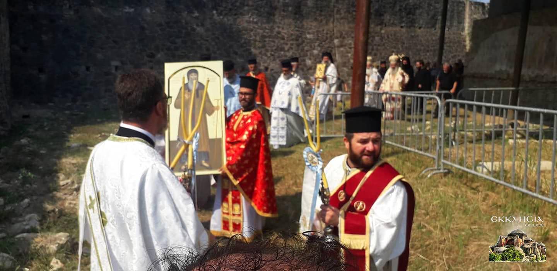 λιτανεία λειψάνου του Αγίου Κοσμά του Αιτωλού Αλβανία 2021