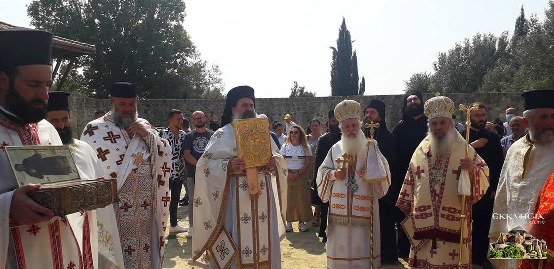 λιτανεία λειψάνου του Αγίου Κοσμά του Αιτωλού Αλβανία