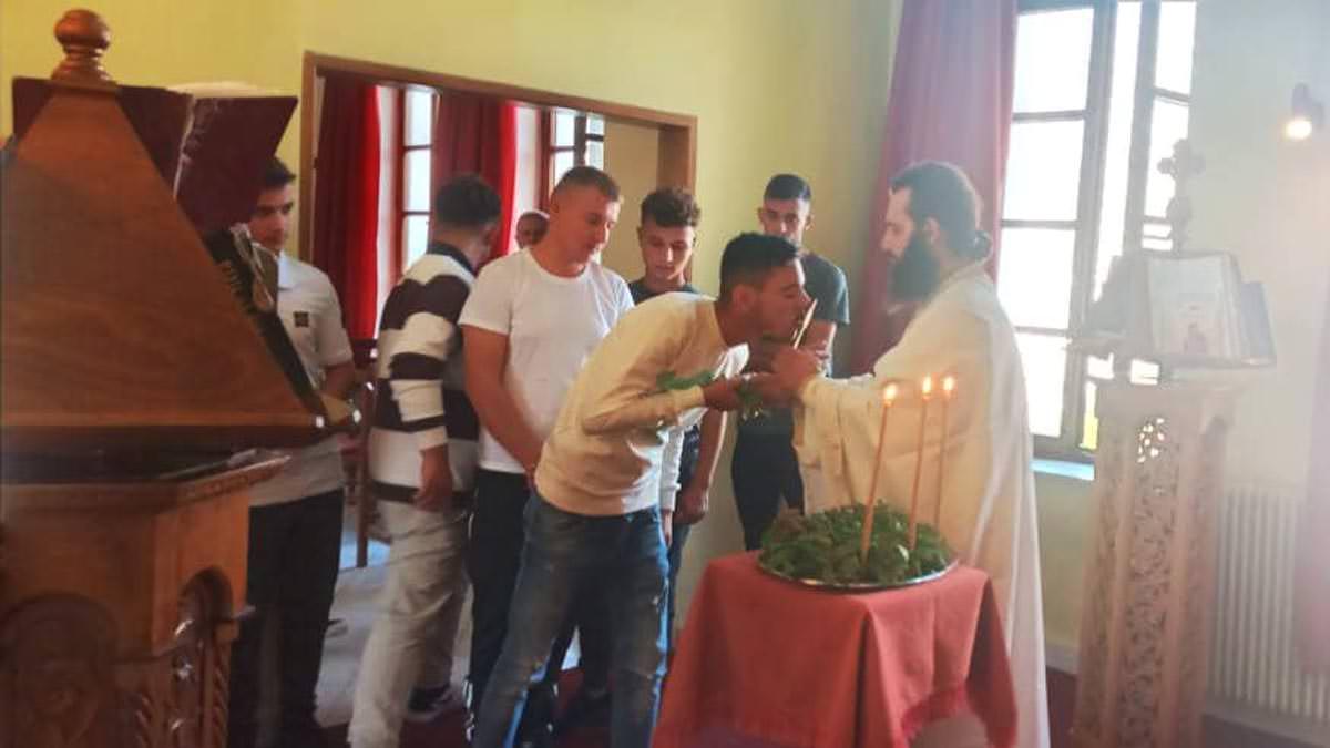 Ύψωση τιμίου Σταυρού Εκκλησιαστικό Λύκειο Αργυροκάστρου
