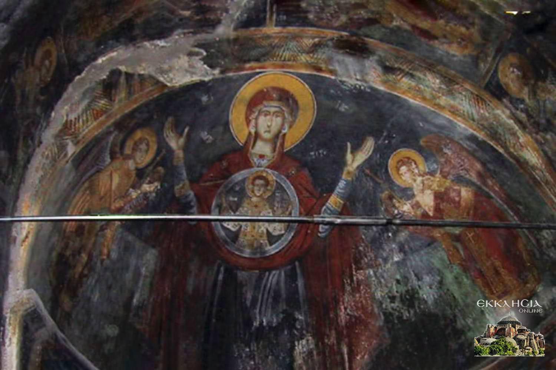 Αποκατάσταση Τοιχογραφίας Παναγίας Αλβανία