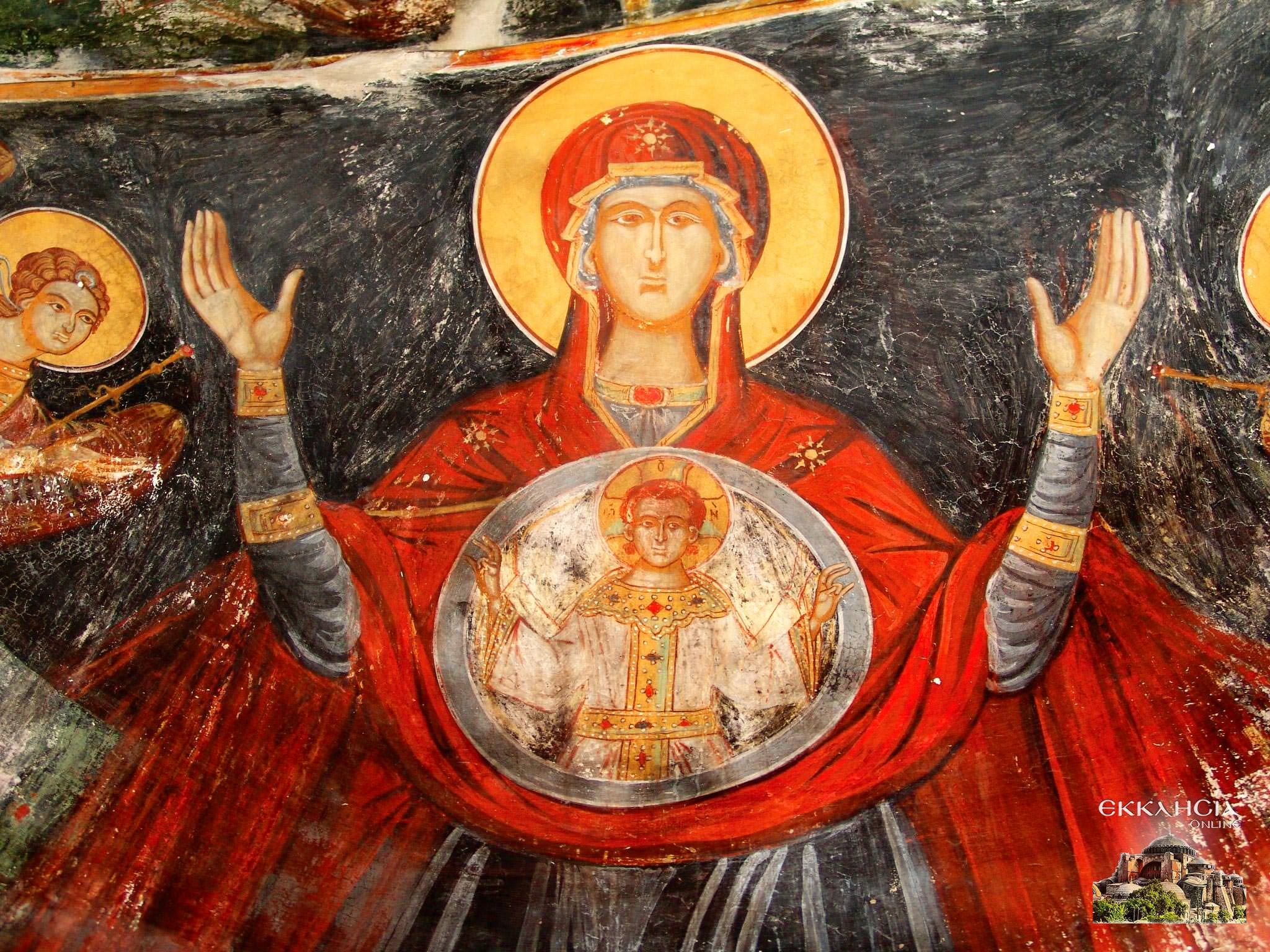 Αποκατάσταση Τοιχογραφίας Παναγίας