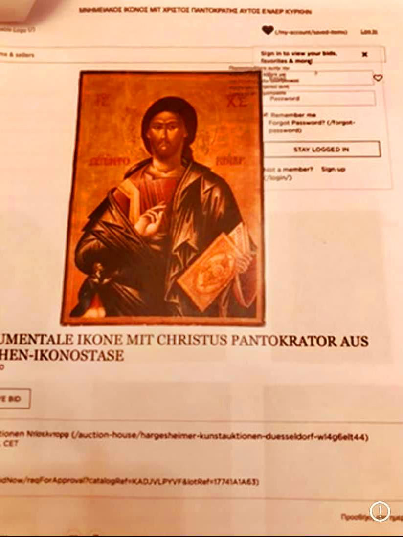 Παραδόθηκαν δύο κλεμμένες εικόνες στο Μοναστήρι Κοιμήσεως Θεοτόκου Μακρίνου